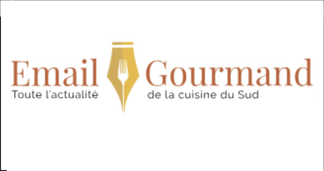 """Image représentant le logo du site """"email gourmand"""", qui est un site ayant fait un article sur le Casa Leya"""