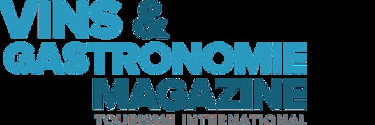 """Image représentant le logo du magazine """"Vins&gastronomie"""", qui est un magazine ayant fait un article sur le Casa Leya"""